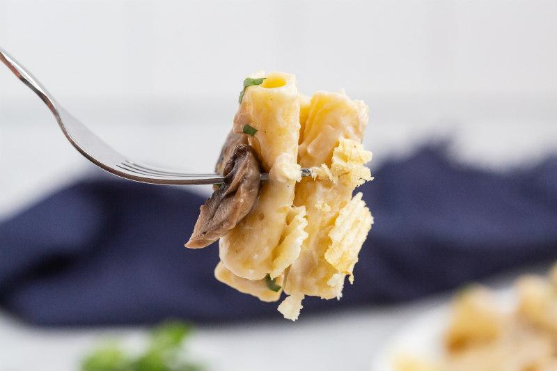 fork full of tuna casserole