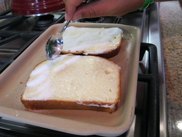 Making Cinnamon Toast
