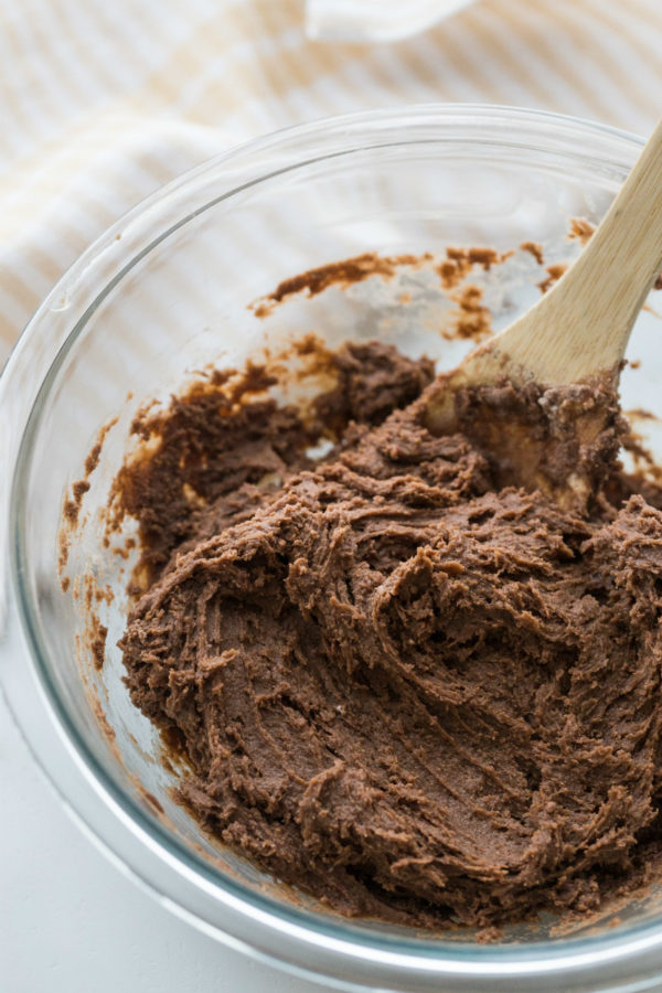 Mixing Brownie Cookie Dough