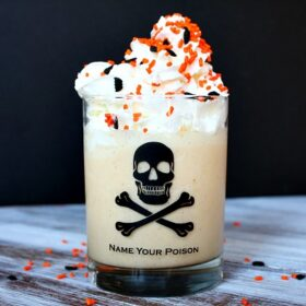 Pumpkin Pie milkshake in a glass