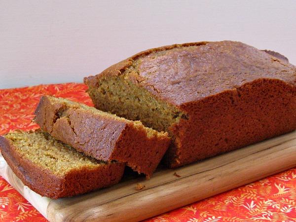 Loaf of Gluten Free Pumpkin Bread