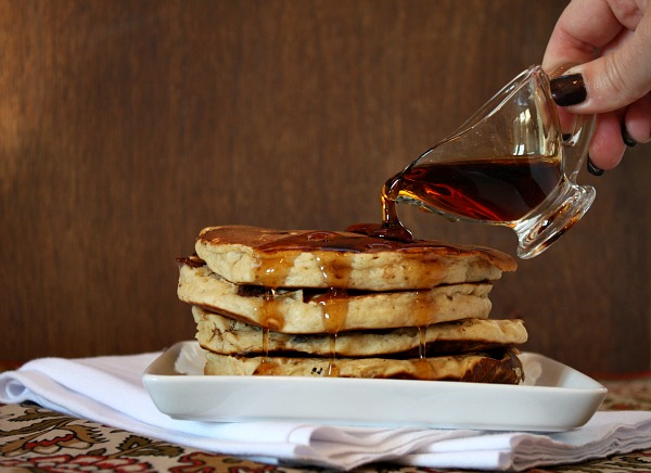 syrup on Peanut Butter Pancakes