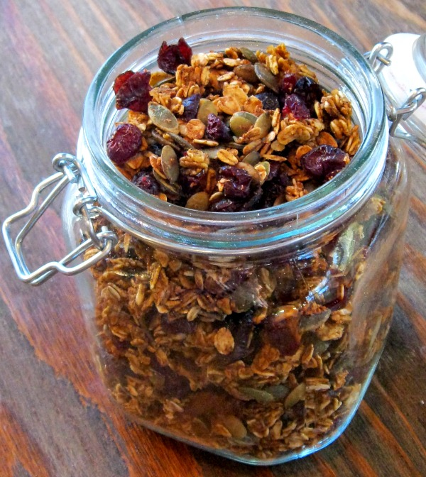 jar of Pumpkin Granola