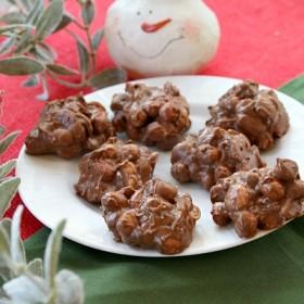 Chocolate- Butterscotch Peanut Clusters