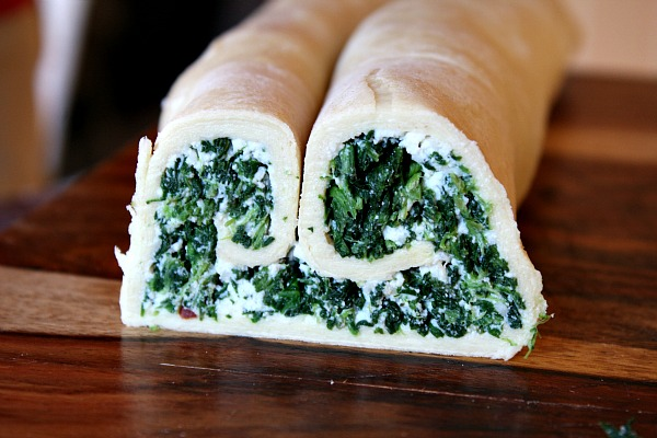 making Spinach Palmiers