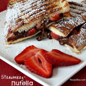 Strawberry Nutella Panini 1