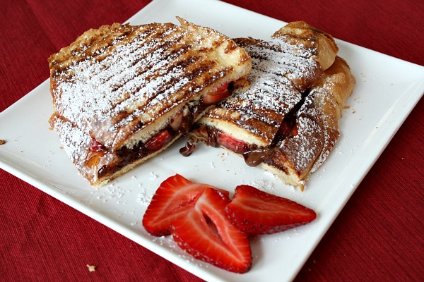 Image result for strawberry nutella panini