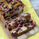 Raspberry- Dark Chocolate Banana Bread 1