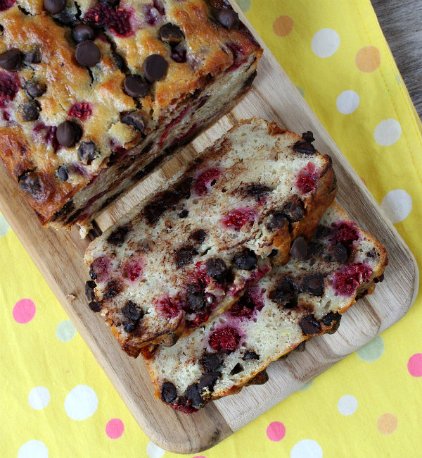 Raspberry Dark Chocolate Banana Bread Recipe