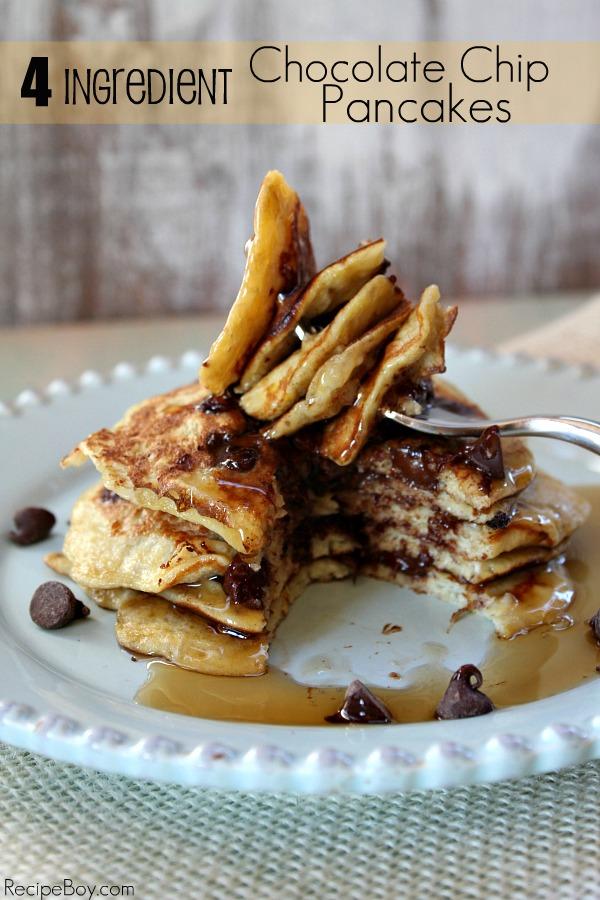 Ingredient Chocolate Chip Pancakes - RecipeBoy.com