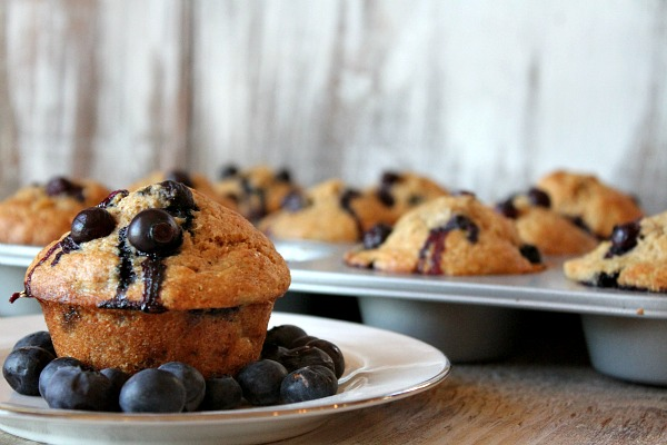 Healthy Banana- Blueberry Muffins | RecipeBoy