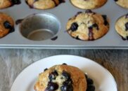 Healthy Banana Blueberry Muffins