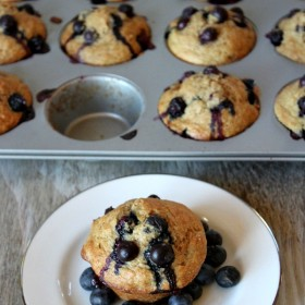 Healthy Banana Blueberry Muffins 3