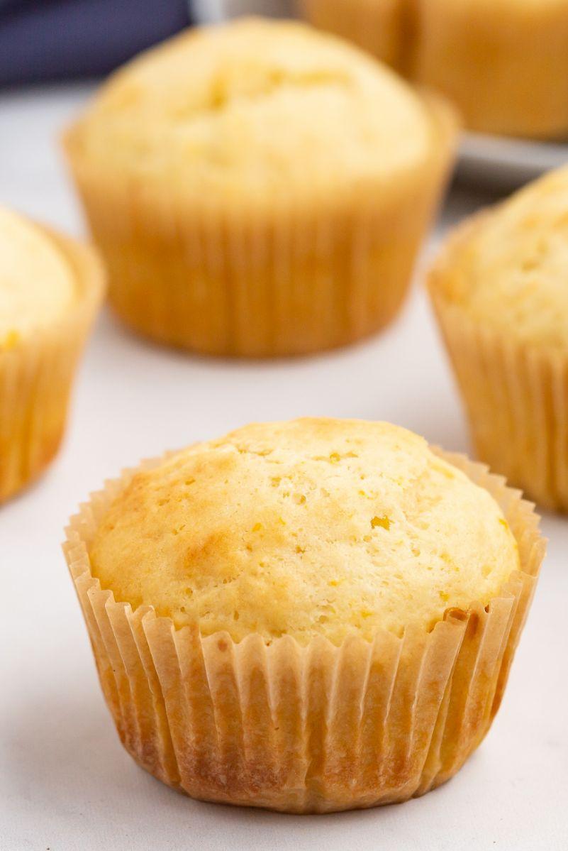 orange ricotta muffin
