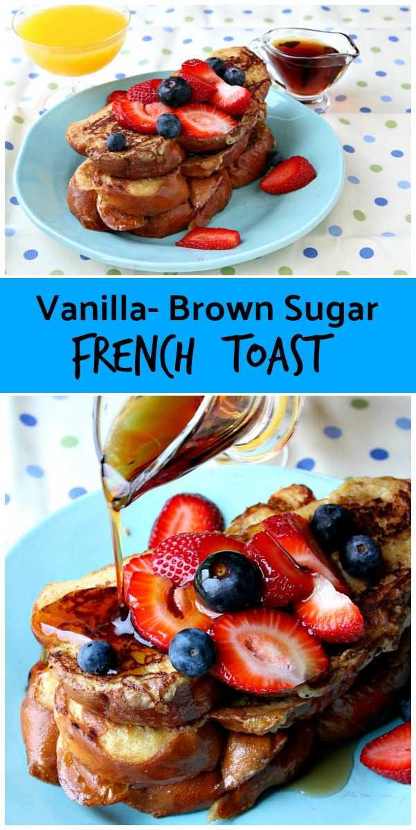 Vanilla Brown Sugar French Toast recipe from RecipeBoy.com #french #toast #recipe #RecipeBoy