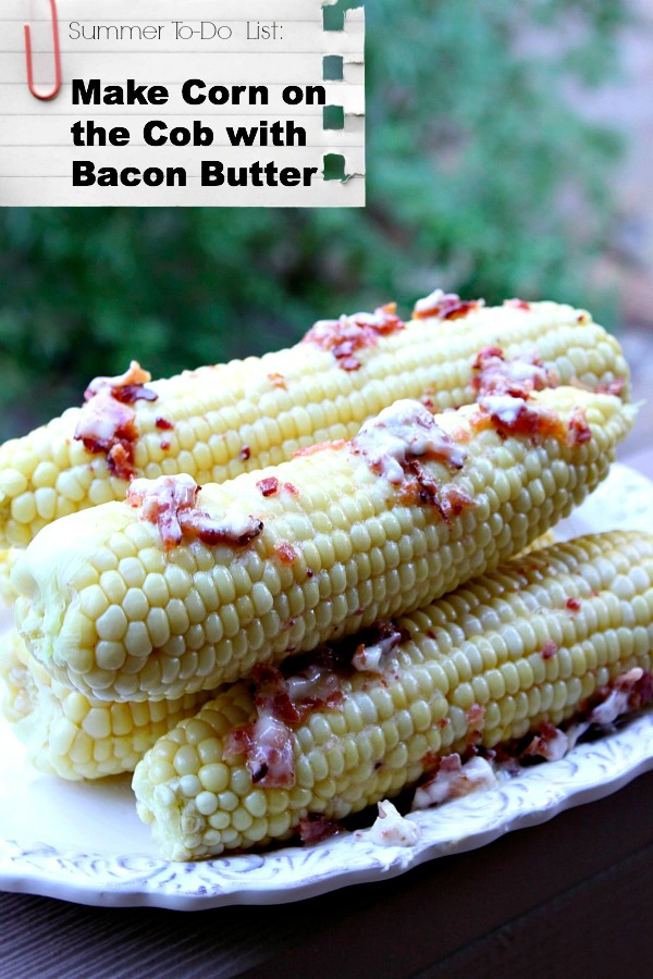 Corn on the Cob with Bacon Butter - RecipeBoy.com