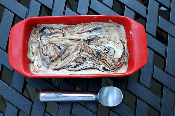 Marshmallow- Fudge Swirl Ice Cream 1