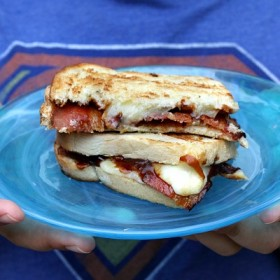 BBQ Bacon Smoked Cheddar Grilled Cheese