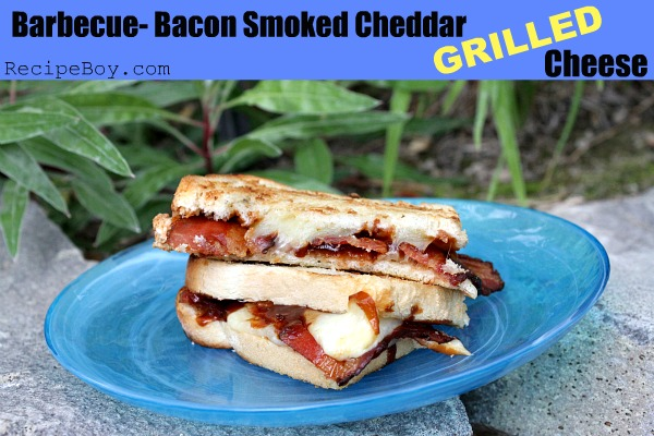 Barbecue Bacon Smoked Cheddar Grilled Cheese - RecipeBoy.com