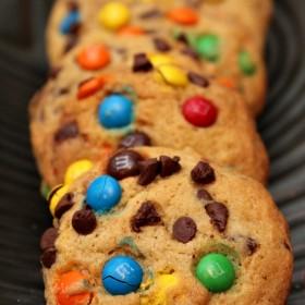 Mini Chocolate Chip M&M Cookies