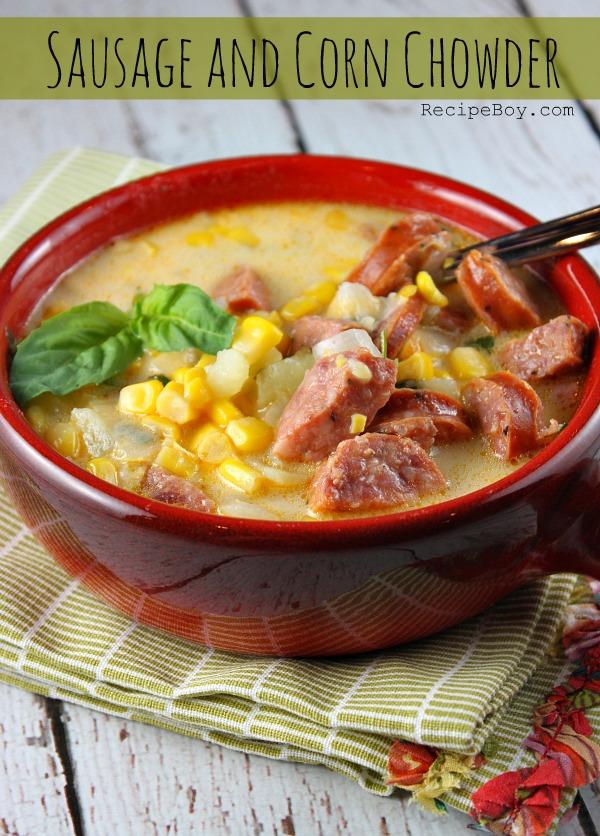 Sausage and Corn Chowder - RecipeBoy.com