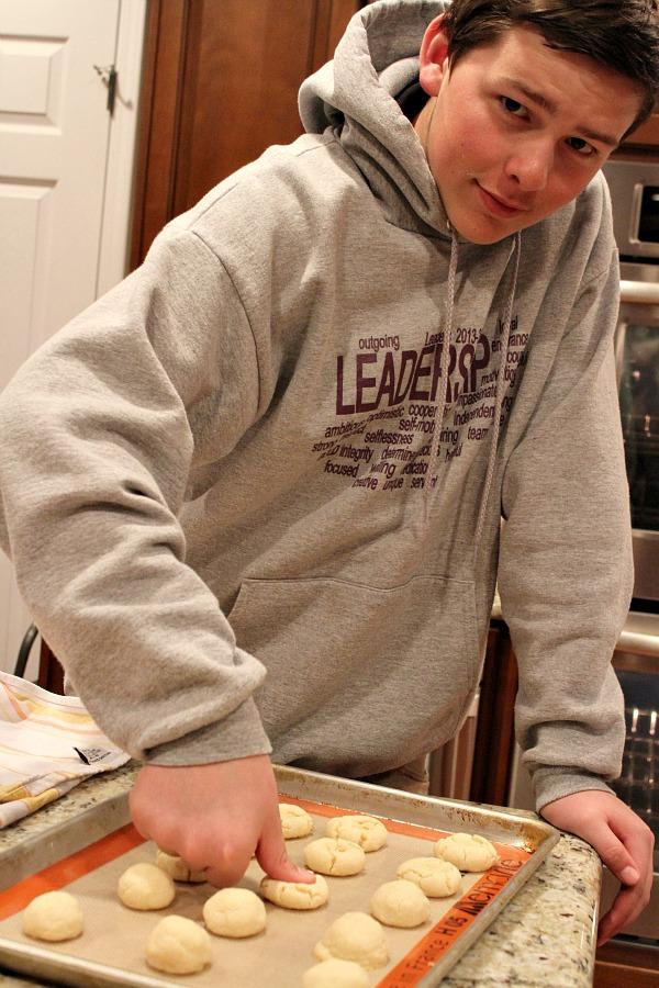 Chocolate Thumbprint Cookies Prep 1