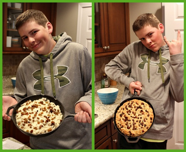 Grammy's Irish Soda Bread in the pan