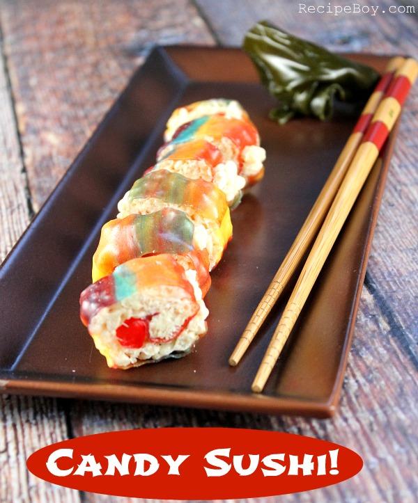 Candy Sushi #Recipe - RecipeBoy.com
