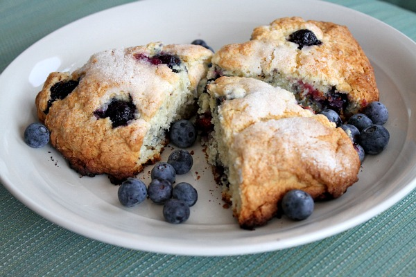 Cape Cod Blueberry Scones on a white plate