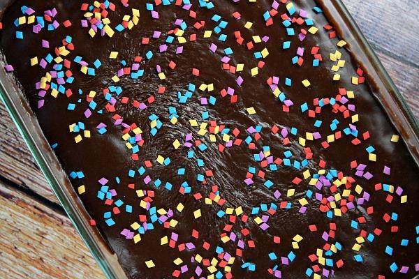 Glazed Milk Chocolate Cake Recipe