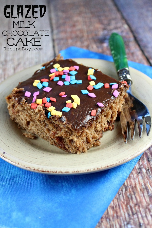Glazed Milk Chocolate Cake #recipe - RecipeBoy.com