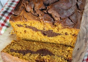 Nutella Cheesecake Pumpkin Bread