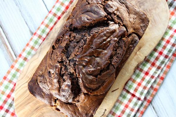 Nutella Cheesecake Pumpkin Bread Loaf