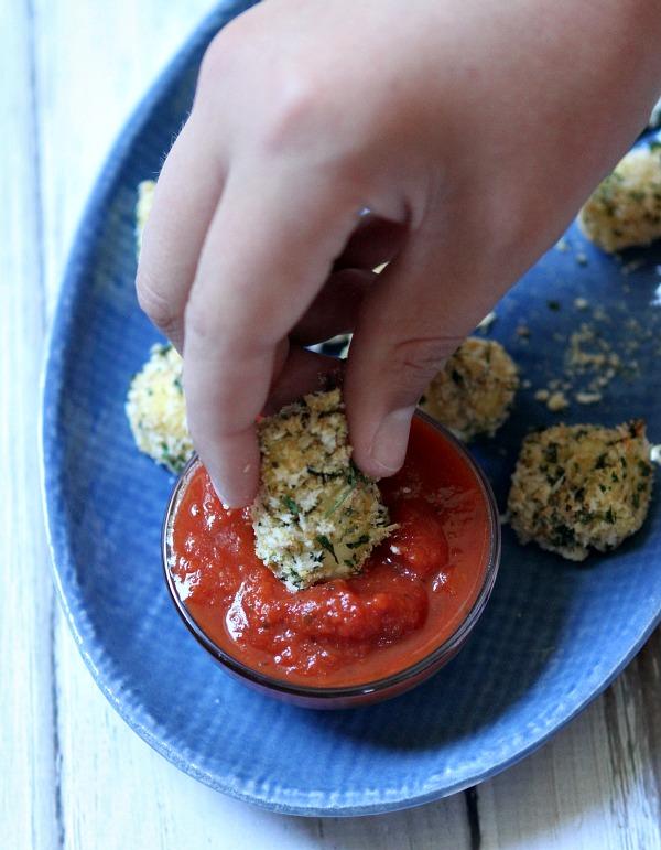 Baked Mozzarella Bites #recipe