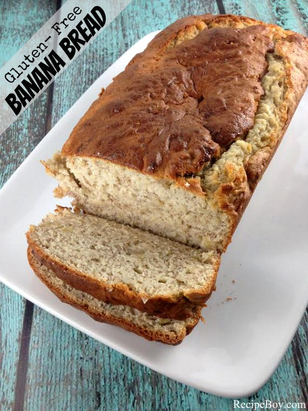 Gluten Free Banana Bread #recipe - RecipeBoy.com