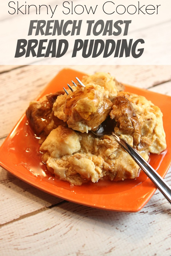Skinny Slow Cooker French Toast Bread Pudding Recipe - RecipeBoy.com