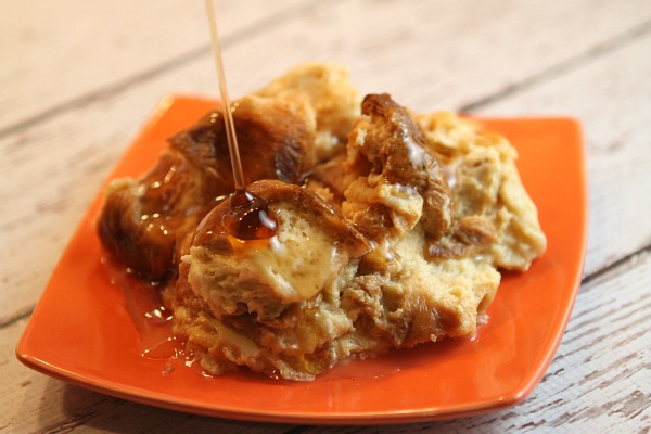 Skinny Slow Cooker French Toast Bread Pudding Recipe