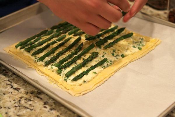 Asparagus and Gouda Tart Prep