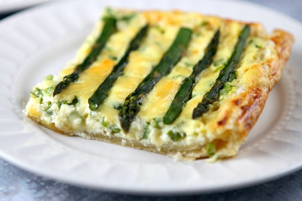 Asparagus and Gouda Tart Recipe - RecipeGirl.com