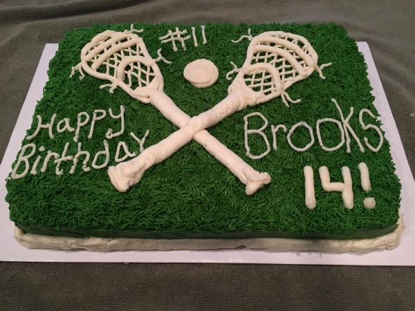 Lacrosse Birthday Cake