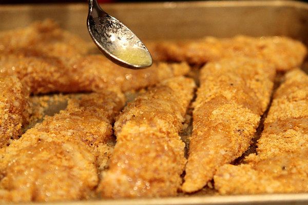 Baked Parmesan Chicken Tenders with Butter