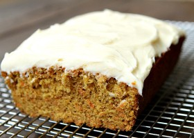 Carrot Loaf Cake with Cream Cheese Frosting