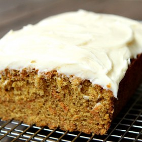 Carrot Loaf Cake with Cream Cheese Frosting   RecipeBoy