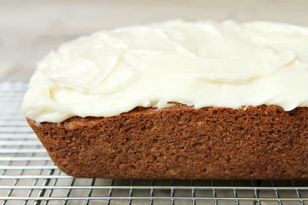 Carrot Loaf Cake with Cream Cheese Frosting Recipe