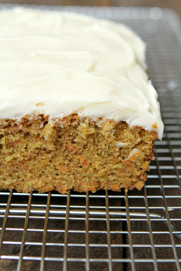 Carrot Loaf Cake with Cream Cheese Frosting - RecipeBoy.com