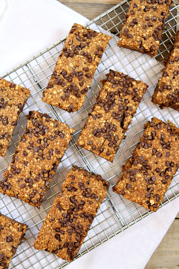 Chocolate Chip Granola Bars Recipe - RecipeGirl.com