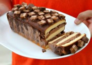 Candy Bar Ice Cream Cake