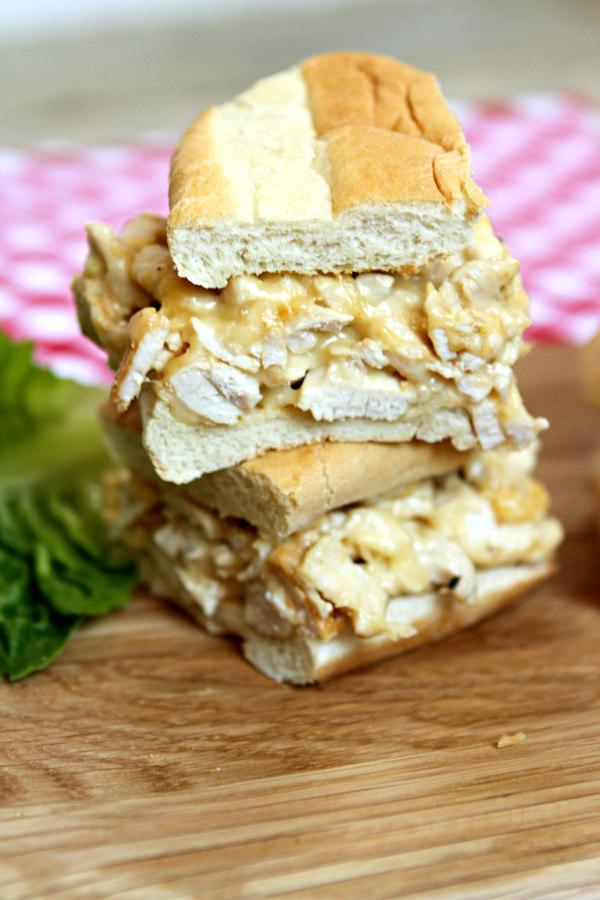 Chicken Cheese Steak Sandwiches - recipe from RecipeBoy.com