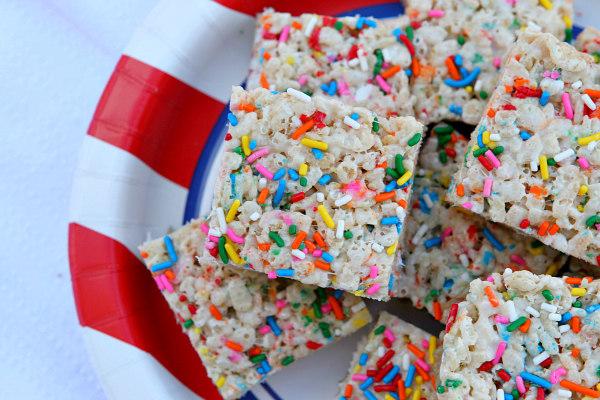 Birthday Cake Rice Krispie Treats Recipe