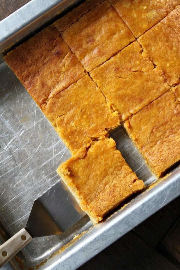 Pumpkin Gooey Butter Bars recipe - from RecipeBoy.com